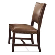 See Details - Bonded Leather Parsons Chair Warm Tobacco finish
