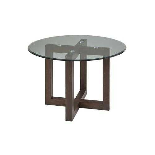 "48"" ROUND GLASS TABLE"
