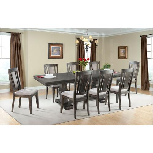 Morrison Dining Set - Table and 8 Wood Side Chairs