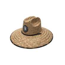 Straw Hat w/ Camo Print and Woven RF Patch