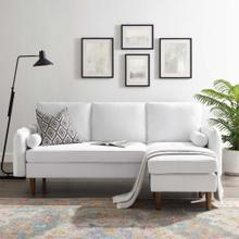 Revive Upholstered Right or Left Sectional Sofa in White