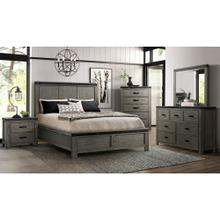 6 Piece Set (Queen Panel Bed, Dresser, Mirror and Nightstand)