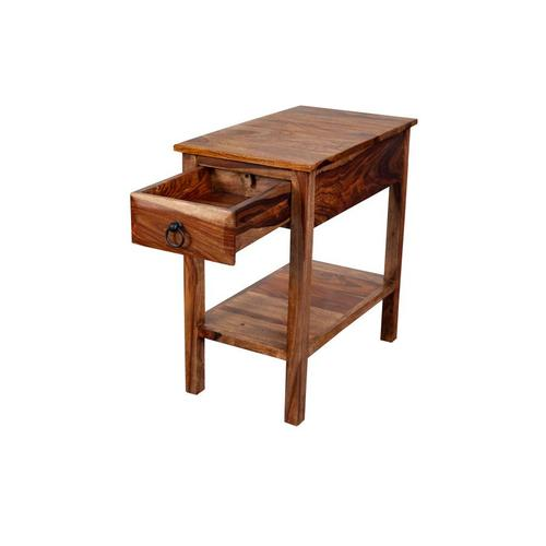 Sheesham Accents Harvest Chairside End Table, PDU-08HRU