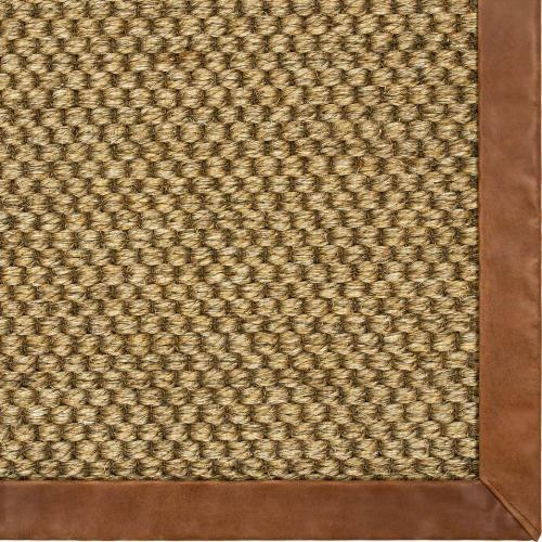 Karastan - Double Weave Jute Bowery 10'x14' / Leather Border