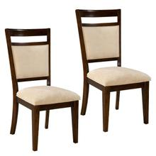 See Details - Avion 2-Pack Upholstered Side Chairs, Cherry Brown
