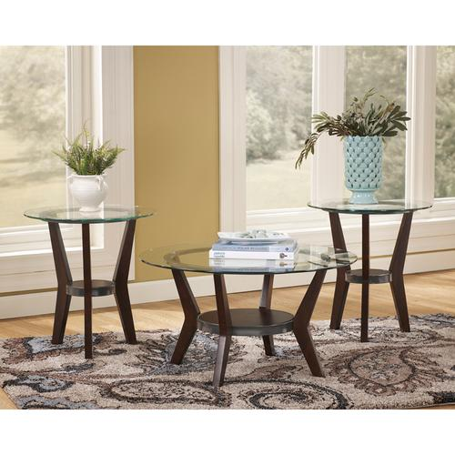 Signature Design by Ashley Fantell 3 Piece Occasional Table Set [FSD-TS3-61DB-GG]