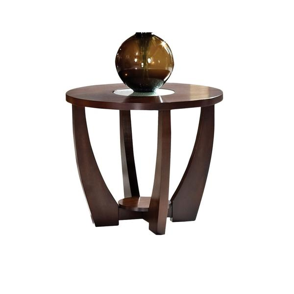 See Details - Rafael End Table w/Cracked Glass Insert (15mm)