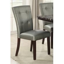 Maura Dining Chair, Silver V1