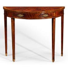 George II style mahogany console