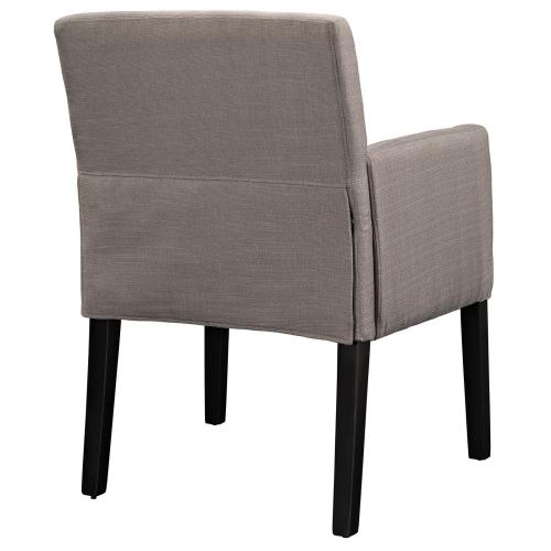 Chloe Upholstered Fabric Armchair in Gray