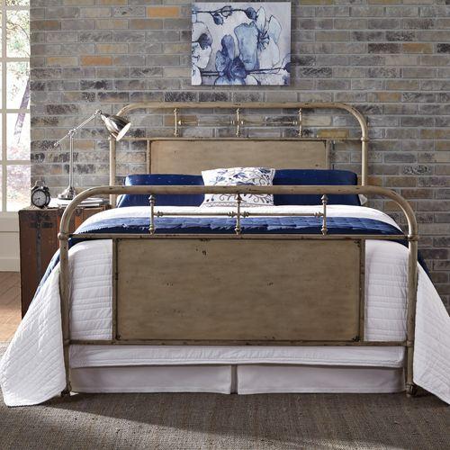 Liberty Furniture Industries - Queen Metal Bed - Vintage Cream