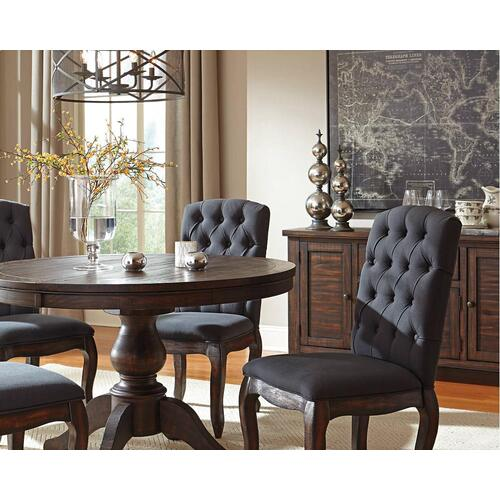 Round DRM EXT Pedestal TBL Top w/ 4 Chairs