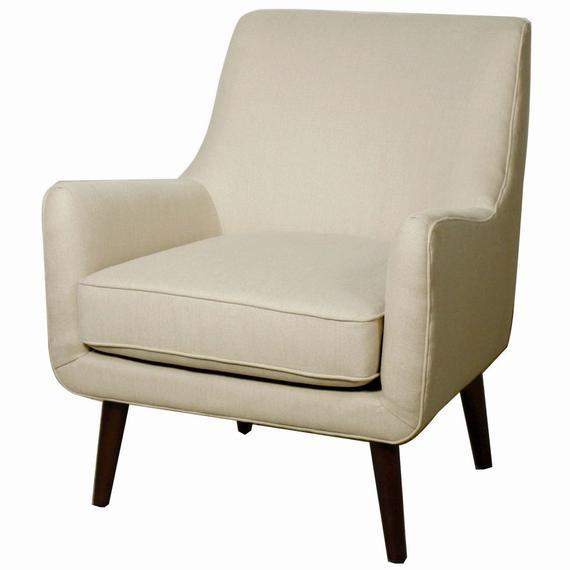 Zoe Fabric Arm Chair, Sand