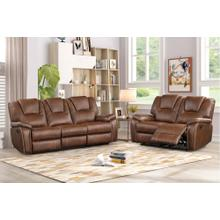 8090 BROWN 2PC Power Recliner Air Leather Living Room SET