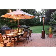 Hanover 7-Ft. 41,000 BTU Steel Umbrella Propane Patio Heater in Hammered Bronze, HAN001BR