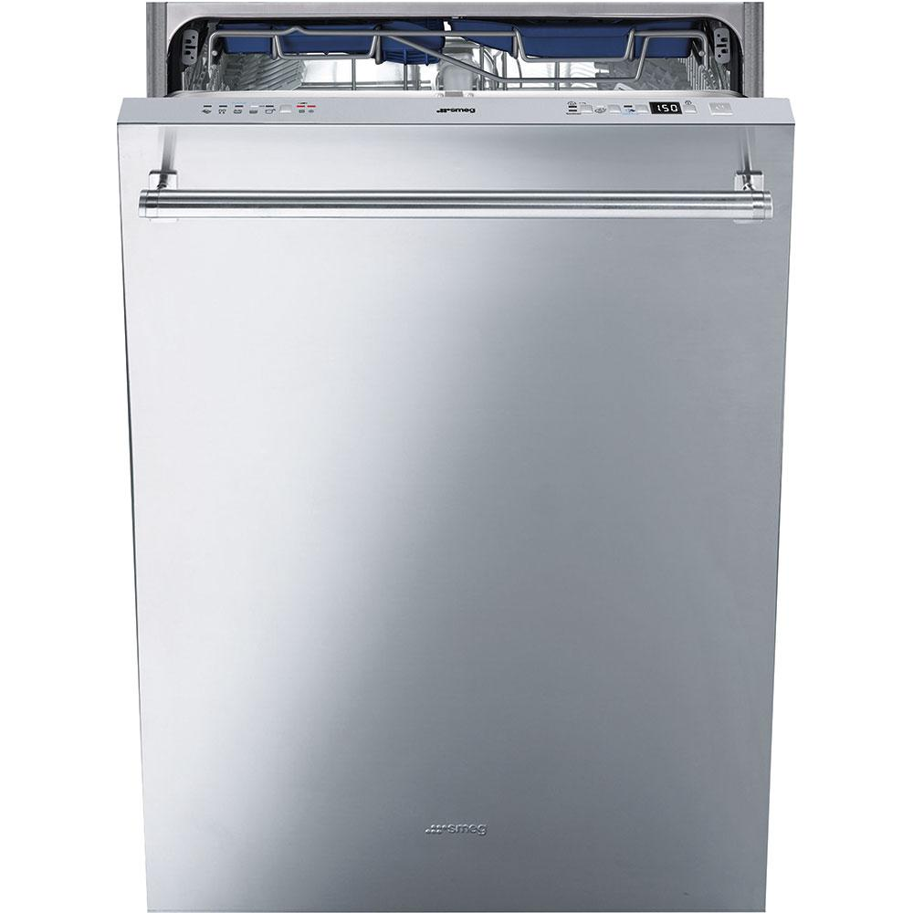 """Smeg60cm (Approx. 24"""") Pre-Finished Dishwasher With Finger Print-Proof Stainless Steel, Maxi-Height Door And Professional Handle"""