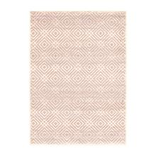 Avilla - Aged Diamonds Area Rug, Beige and Pink, 8' x 10'