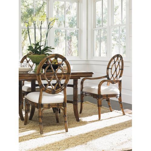Cedar Key Oval Back Arm Chair