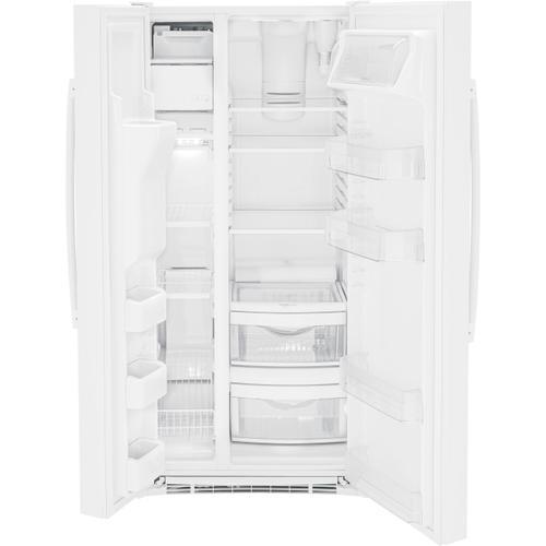 GE Appliances - GE® ENERGY STAR® 23.0 Cu. Ft. Side-By-Side Refrigerator