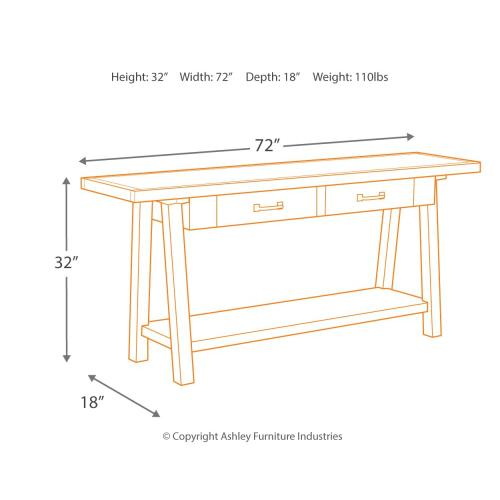 Stownbranner Sofa/console Table