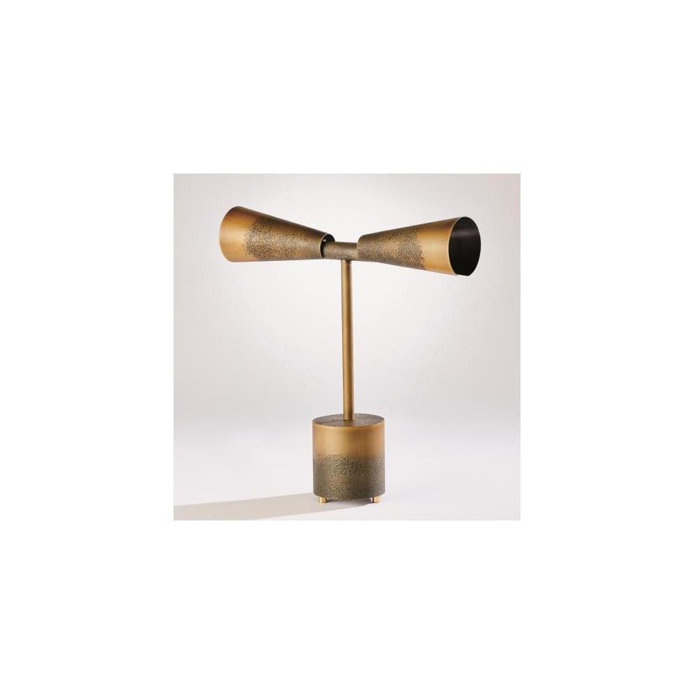 Ombre Trumpet Desk Lamp-Bronze/Gold
