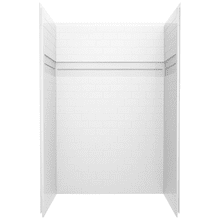 White 48'' x 34'' Shower Wall Set
