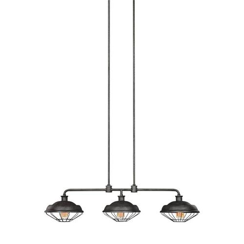 Lennex Linear Chandelier Slate Grey Metal