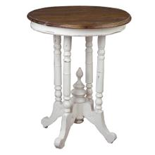 Round End Table - Antique White
