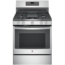 "GE® 30"" Free-Standing Gas Convection Range (This may be a Stock Photo, actual unit (s) appearance may contain cosmetic blemishes. Please call store if you would like additional pictures). This unit carries our 6 Month warranty, MANUFACTURER WARRANTY and REBATE NOT VALID with this item. ISI 40524"