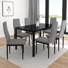 Contra 7pc Dining Set, Black/Grey