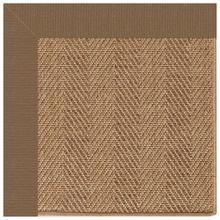 "Islamorada-Herringbone Canvas Cocoa - Rectangle - 24"" x 36"""