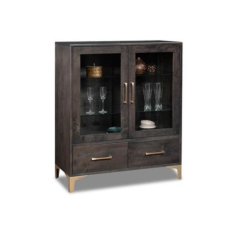 - Laguna Display Cabinet with 2/Glass Doors & 2/Drawers & 2/Glass Adjust Shelf