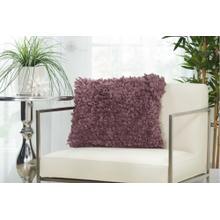 """Shag Dl660 Lavender 1'5"""" X 1'5"""" Throw Pillow"""