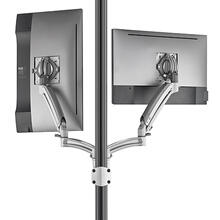 Kontour K1P Dynamic Pole Mount Reduced Height, 2 Monitors