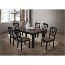 5058 A La Carte Black 7-Piece Rectangular Dining Set