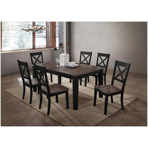 5058 A La Carte Black 7-Piece Counter Height Dining Set