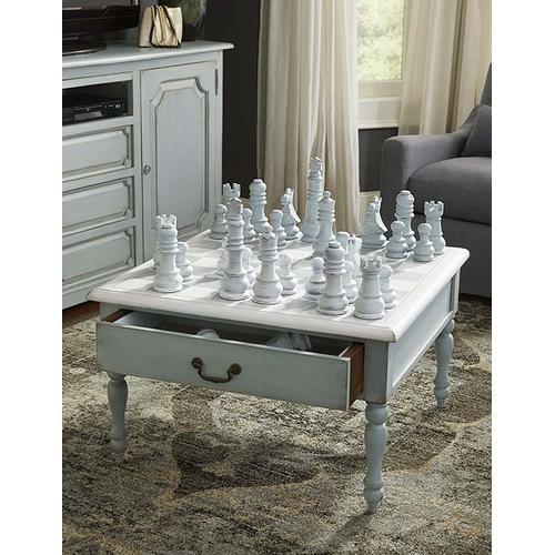 Logan Table 2 Drawer w/ Chess Set