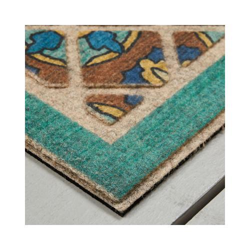 Mohawk - Stone Welcome, Retro Tiles- Rectangle