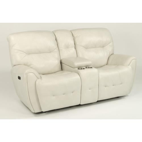Blaise Power Reclining Loveseat with Console & Power Headrests