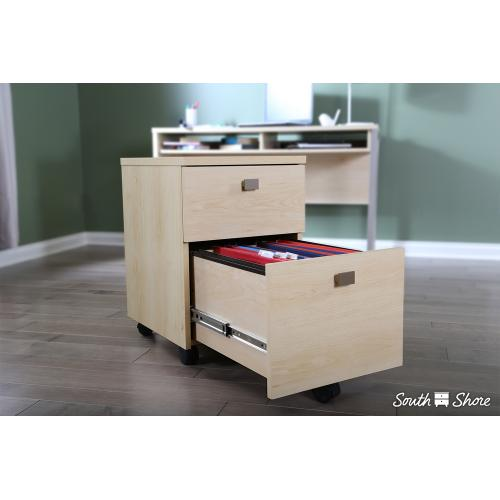 2-Drawer Mobile File Cabinet - Natural Maple