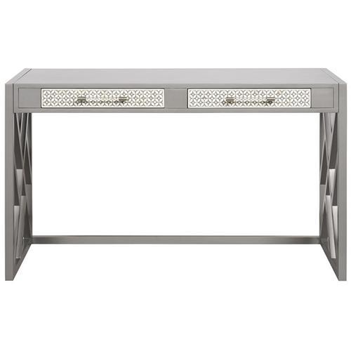 Bryson Desk with Wood Fretwork Base HH15