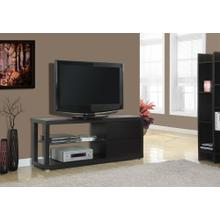 "TV STAND - 60""L / CAPPUCCINO WITH TEMPERED GLASS"