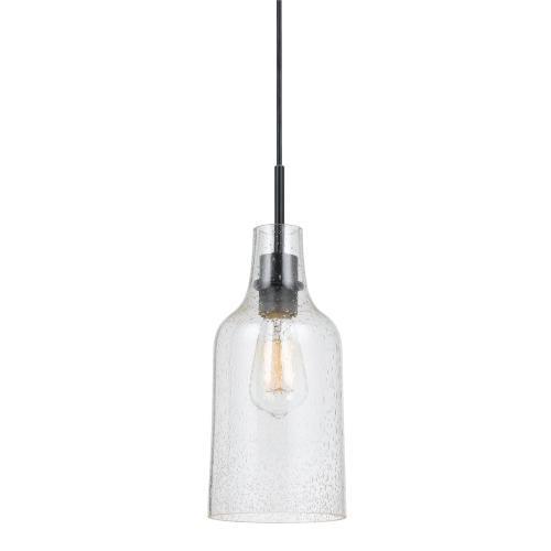 60W Cosenza Bubbleglass Pendant Fixture (Edison Bulb Not included)