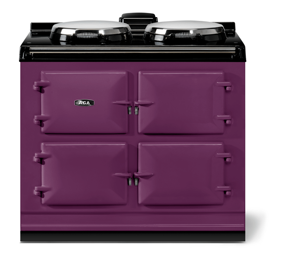 """AGAAga Classic 39"""" Dual Control Electric-Only Model, Aubergine"""