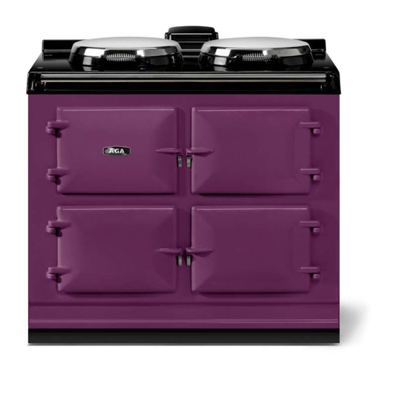 """AGA classic 39"""" Dual Control Electric-Only Model, Aubergine"""
