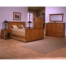 Our extensive Mission Bedroom Collection comes with a variety of headboards, footboards, and bed designs.