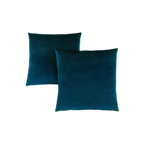 """Gallery - PILLOW - 18""""X 18"""" / STEEL BLUE DIAMOND VELVET / 2PCS"""