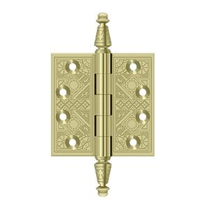 """3-1/2"""" x 3-1/2"""" Square Hinges - Unlacquered Brass"""