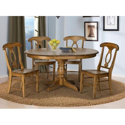 """See Details - 42"""" Pedestal Table W/ 1-18"""" Leaf"""