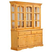 See Details - Treasure Buffet and Lighted Hutch - Light Oak